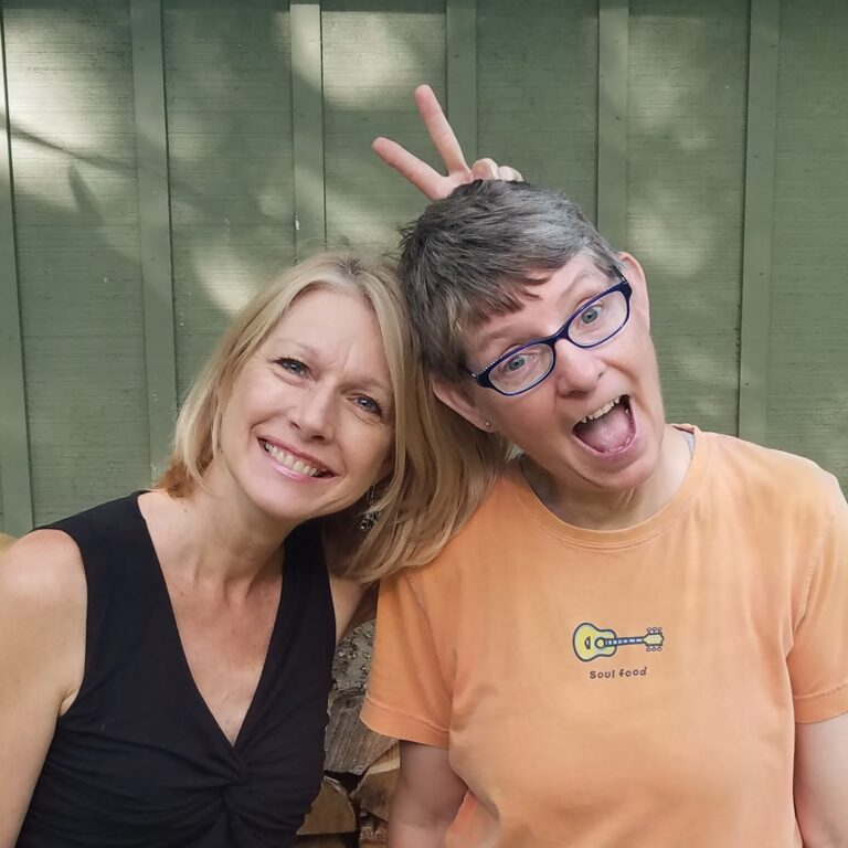 Games and Giggles Pam and Di bunny ears