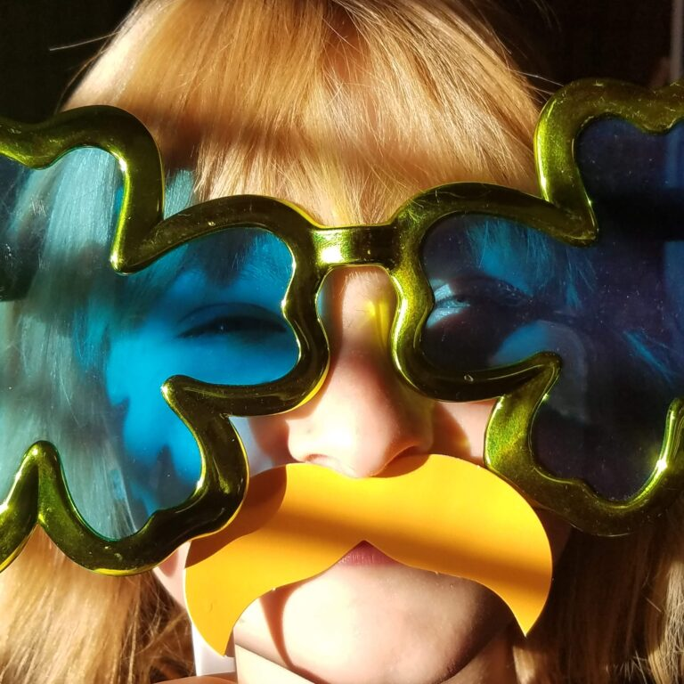 Party Kid in crazy glasses